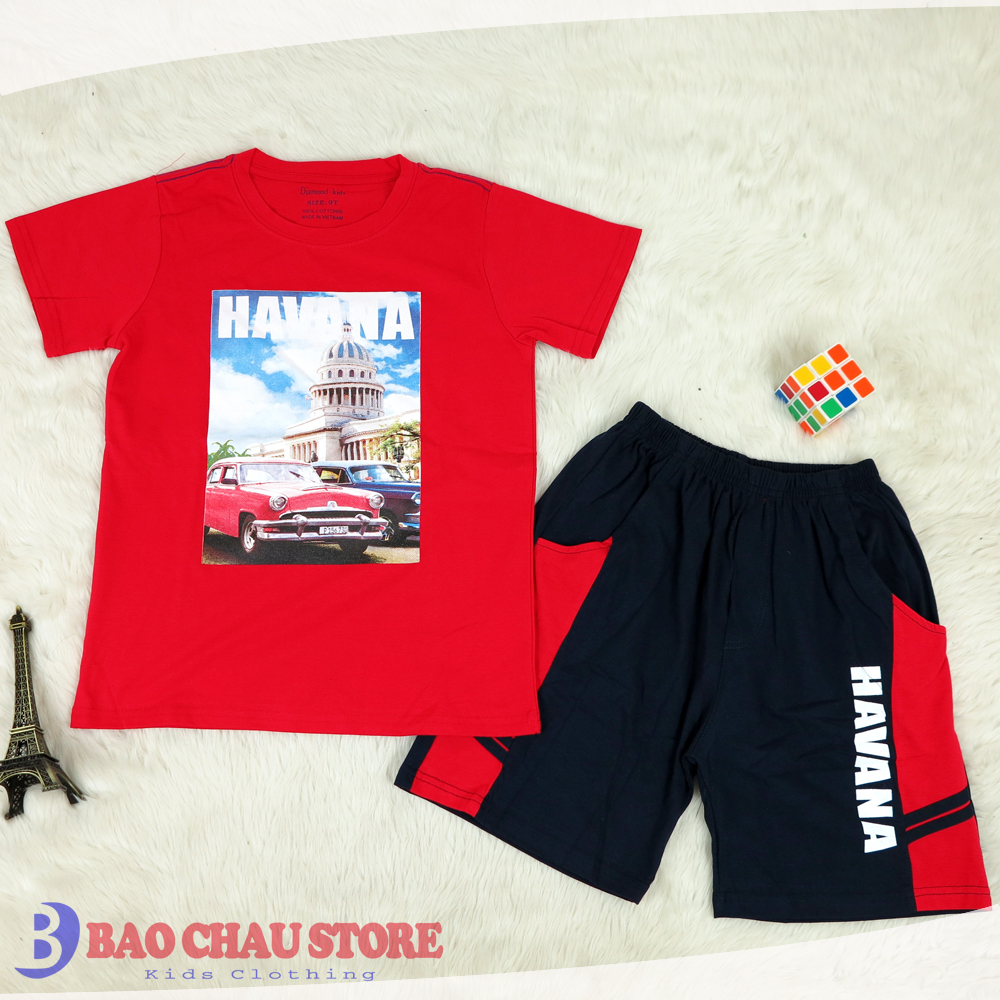 Casual Clothings Six Hight Quality Colors Printed Car Short Sleeve Children Clothing sets