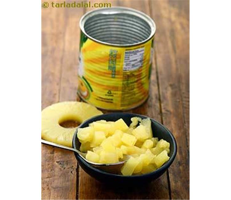 Canned pineapple in syrup (in pineapple juice)/ canned fruits