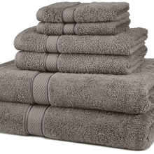 amazon best seller Egyptian Cotton 600-Gsm 6-Piece Towel Set, Gray