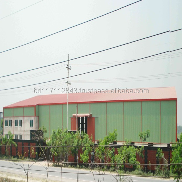 Low cost large span prefabricated steel structure industrial building
