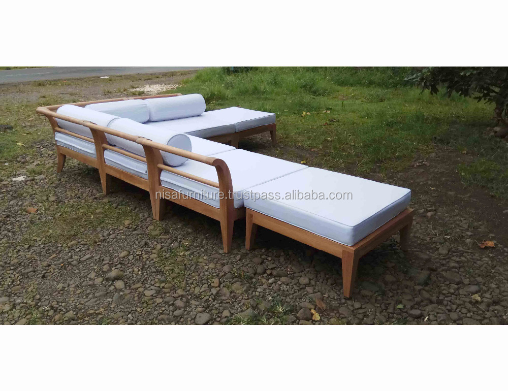 Teak wood Patio Furniture Outdoor Sofa Set Designs From Indonesia furniture Products