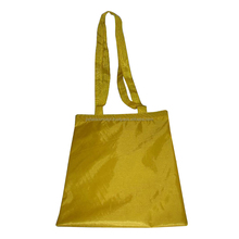 Polyester tote bag with polyester web handle