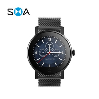 smart watch with MTK2503A-ARM7 1.28 inches IPS full touch screen and Pixart 8002 support dynamic heart rate