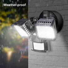 Waterproof 120 volt 220 volt small led security motion sensor light for outdoor use