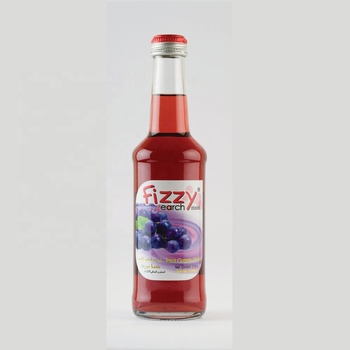 Fruit Drink Juice Red Grape Sparkling Glass bottle 275ml Fizzy