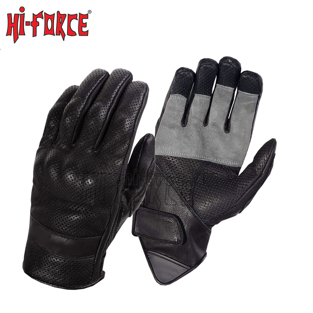 Motorcycle Leather Gloves Riding Racing Bike Protective Armor Short