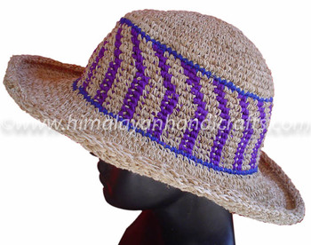 Stylish Purple Lining Wire Brim Hat HCWB 0042