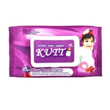 80 Pieces Antibacterial Wet Wipes -Strawberry Fragrance, Alcohol Free Hypoallergenic, PH Balanced