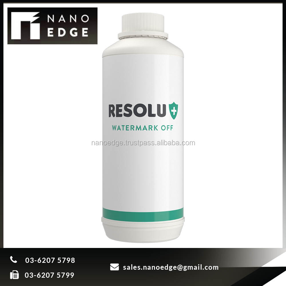 RESOLU+ WATERMARK OFF Dirt Removal Glass Watermark Remover nano ceramic coating, glass cleaner liquid