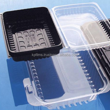 Pentafood Bicolor Transparent Black PET Film Thermoforming for Appealing Food Trays