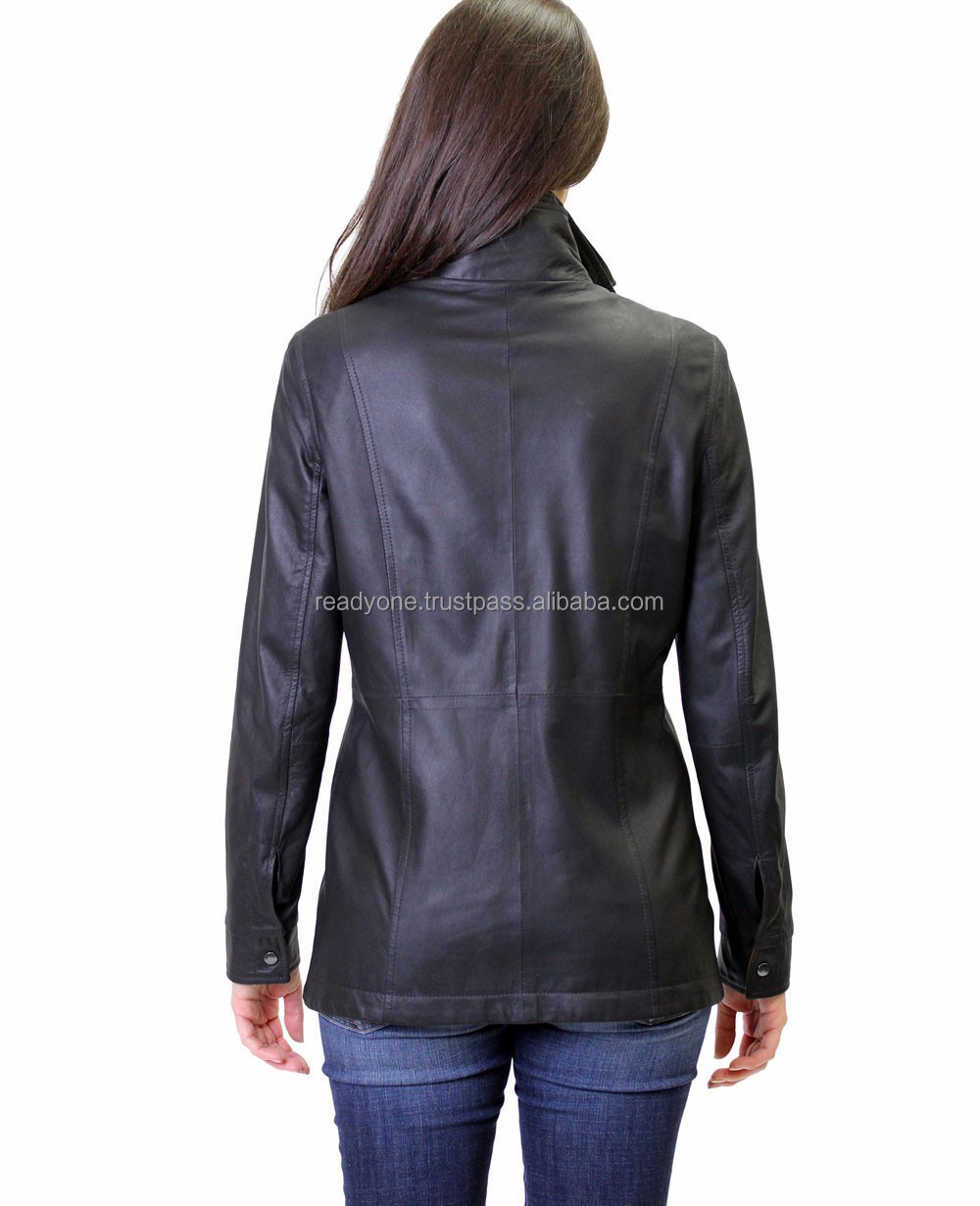 womens classic leather varsity jacket