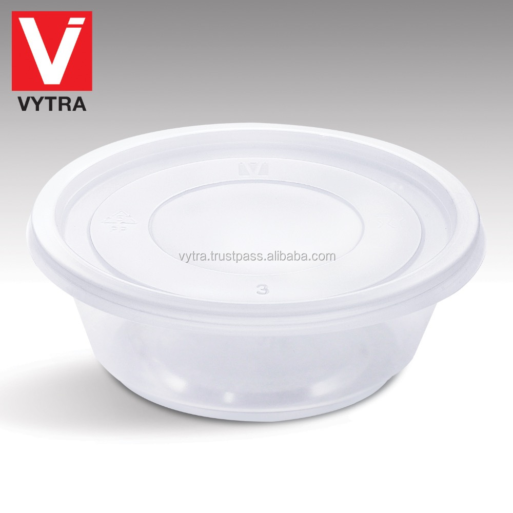 Vytra Microwavable 10oz / 300ml Disposable PP Plastic Round Container