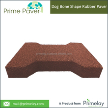 Dog Bone Shaped Interlocking Rubber Tiles Brick Pavers