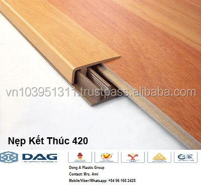 Laminated PVC corner jointer in floor and ceiling title