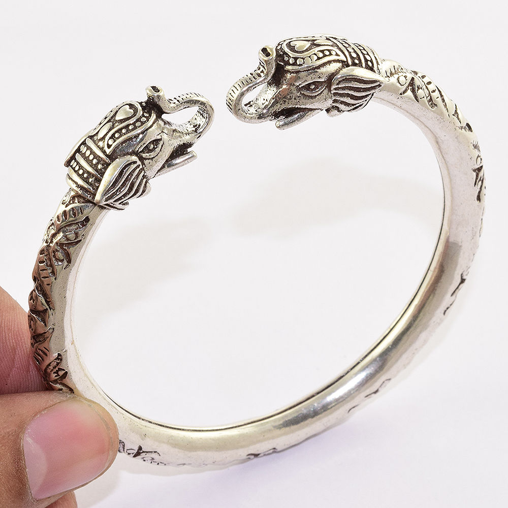 Elephant jewelry plain silver bangle high polished 925 sterling silver bangle wholesaler silver jewelry