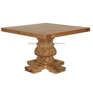 HOME FURNITURE - WOODEN FURNITURE DINING TABLE VINTAGE FRENCH STYLE