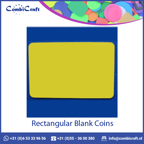 Scratch Proof Rectangular Blank Plastic Tokens with Custom Printing
