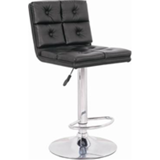 PU Synthetic Leather Chrome Finish Bar Stool