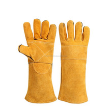 Kevlar Stitching Welders Gauntlets Heat Resistant Welding Gloves with Cotton Lined and for Welding Woodburner Fireplace Stove Gr