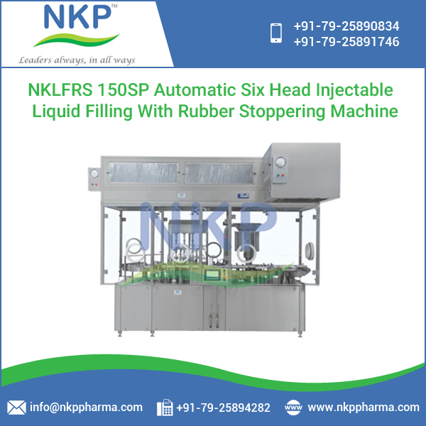 Low Power Consumption Six Head Injectable Liquid Filling Machine with Best Filling Accuracy