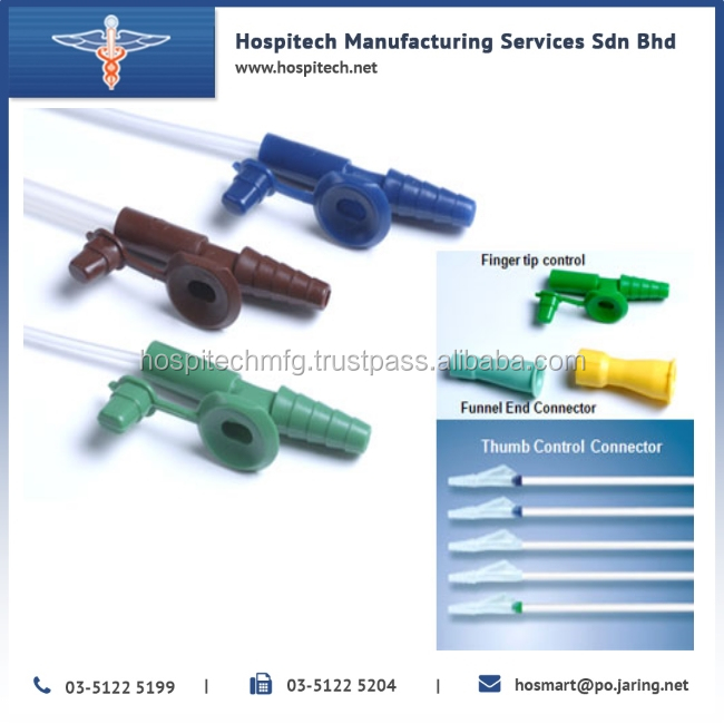 High Quality Medical Vacuum Control closed Suction Catheter with the difference type for Hospitals