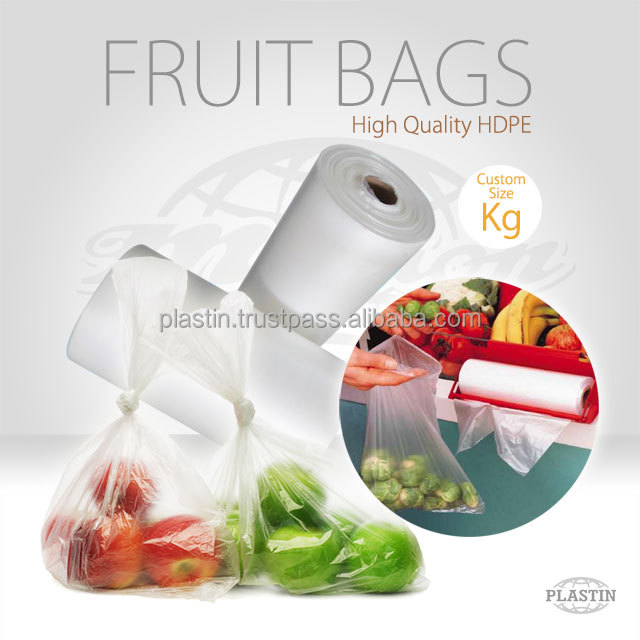 HDPE Fruit & Vegetable Plastic Roll Bags /Kg