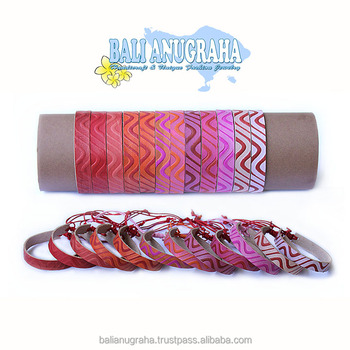 High Quality Fashion Design Painted Leather Braided Bracelet