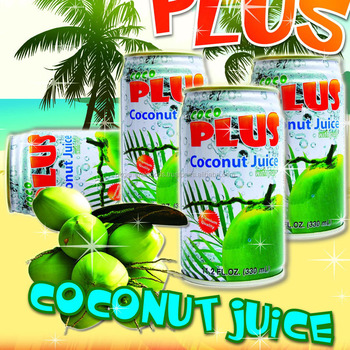 Coconut water Juice with Pulp Tin can 330ml