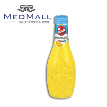 EPSA - Orangeade - Non Carbonated Soft Drink Orange Juice - 232ml per Glass Bottle - 4 pcs x 6 packs