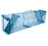 Humane cage trap for animals 65x17x20cm, 2 doors, solid galvanized metal mesh cage and trap for marten cat dog fox otter rabbit