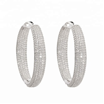 Turkish Manufacturer Pave Bar Earring For Lady Turkish Wholesale Handcrafted 925 Sterling Silver Jewelry With Factory Price
