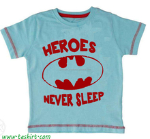 oem Round kids cartoon t-shir , boys t shirt , baby cloths and wear