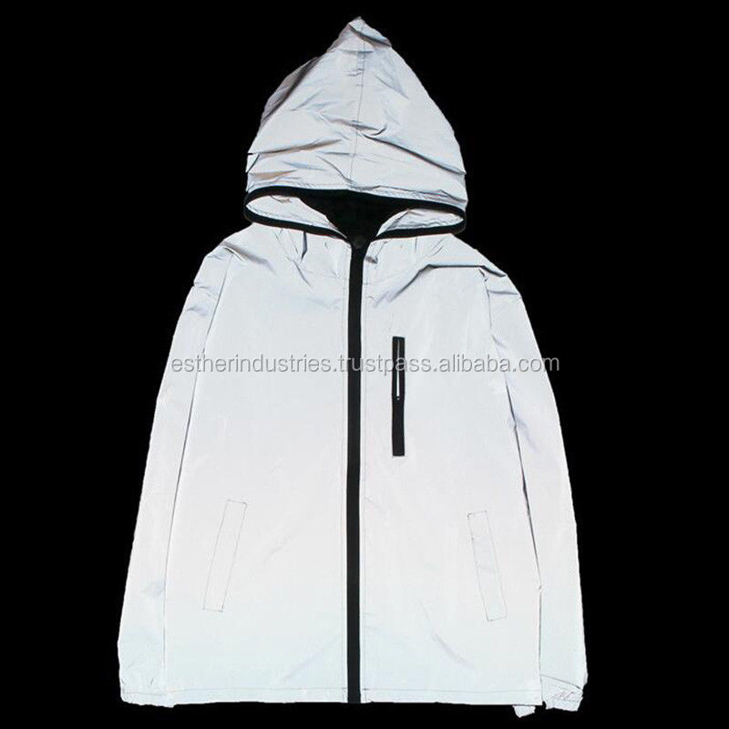 Mens boys 3M Reflective Hooded Biker Jacket/3M Reflective jacket/3M Reflective trouser/Custom 3M Reflective garments