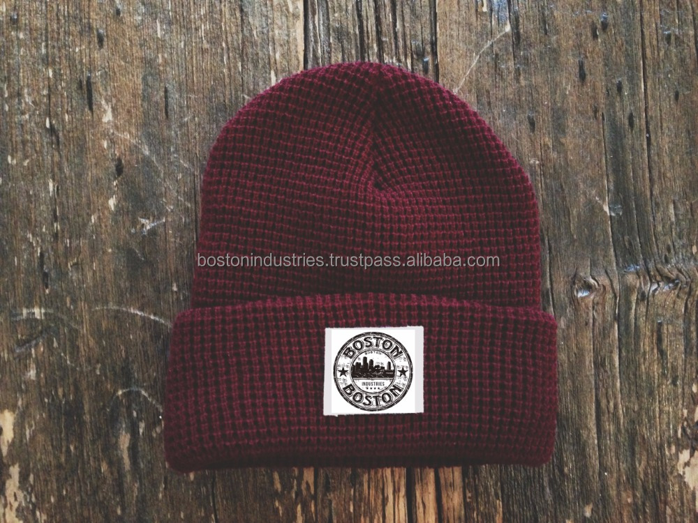 Custom Woven Label Beanie Winter Hats at Boston Industries