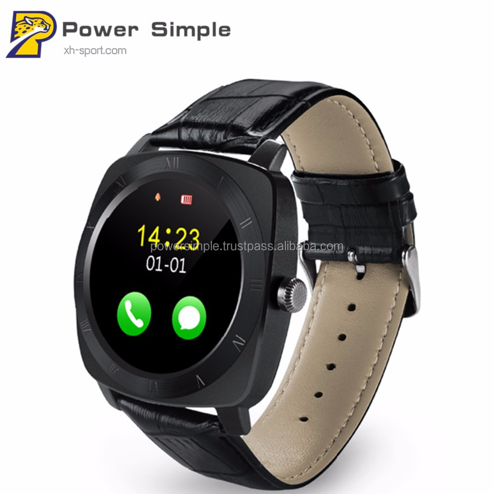 2017 New Smart Watch X3 Smartwatch Pedometer Fitness Clock Camera SIM Card Mp3 Player man for IOS Android Watchphone Support WiF