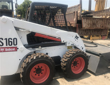 Used Bobcat Goog cheap original Bobcat skid steer loader S160 Low price and good condition for sale/front loader mini bobcat