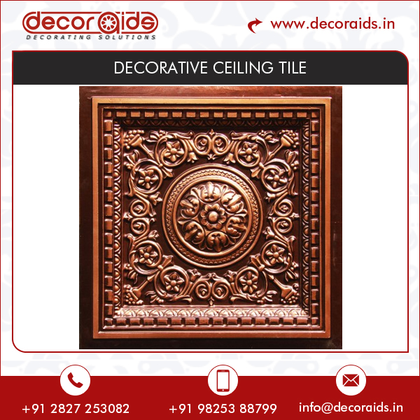 Roman Design Ethnic Patterns Wide Range of Choices in Ceiling Tile / Perforated Ceiling Tiles