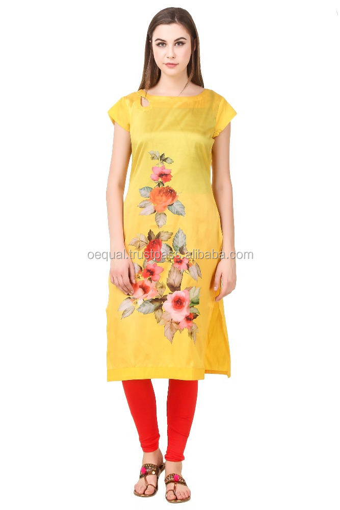 kurti for ladies designs yellow kurta