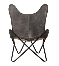 Uniique Style hardoy buff leather butterfly chair