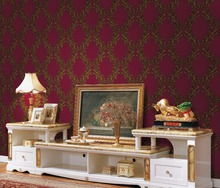 pvc floral design wall paper for house decoration