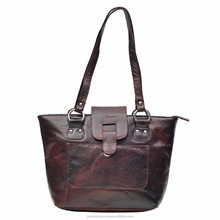 Hawai Brown Leather Shoulder Bag