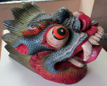 Dragon Mask Wall Hanging Decor Handmade in Nepal