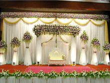crystal wedding stage backdrop wedding wedding mandap stage