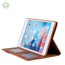 2018 New Luxury Genuine Leather Cover Tablet With Pen Holder Kickstand For iPad Cover Case