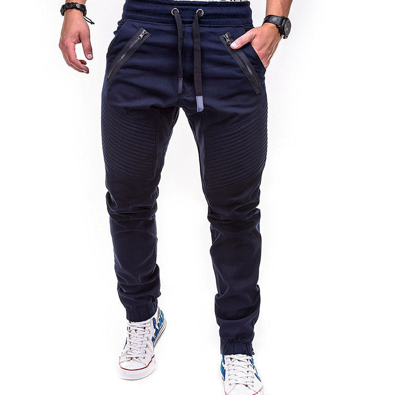 New Design Men's Gym Slim Fit Trousers Tracksuit Bottoms Skinny Joggers Sweat Track Pants