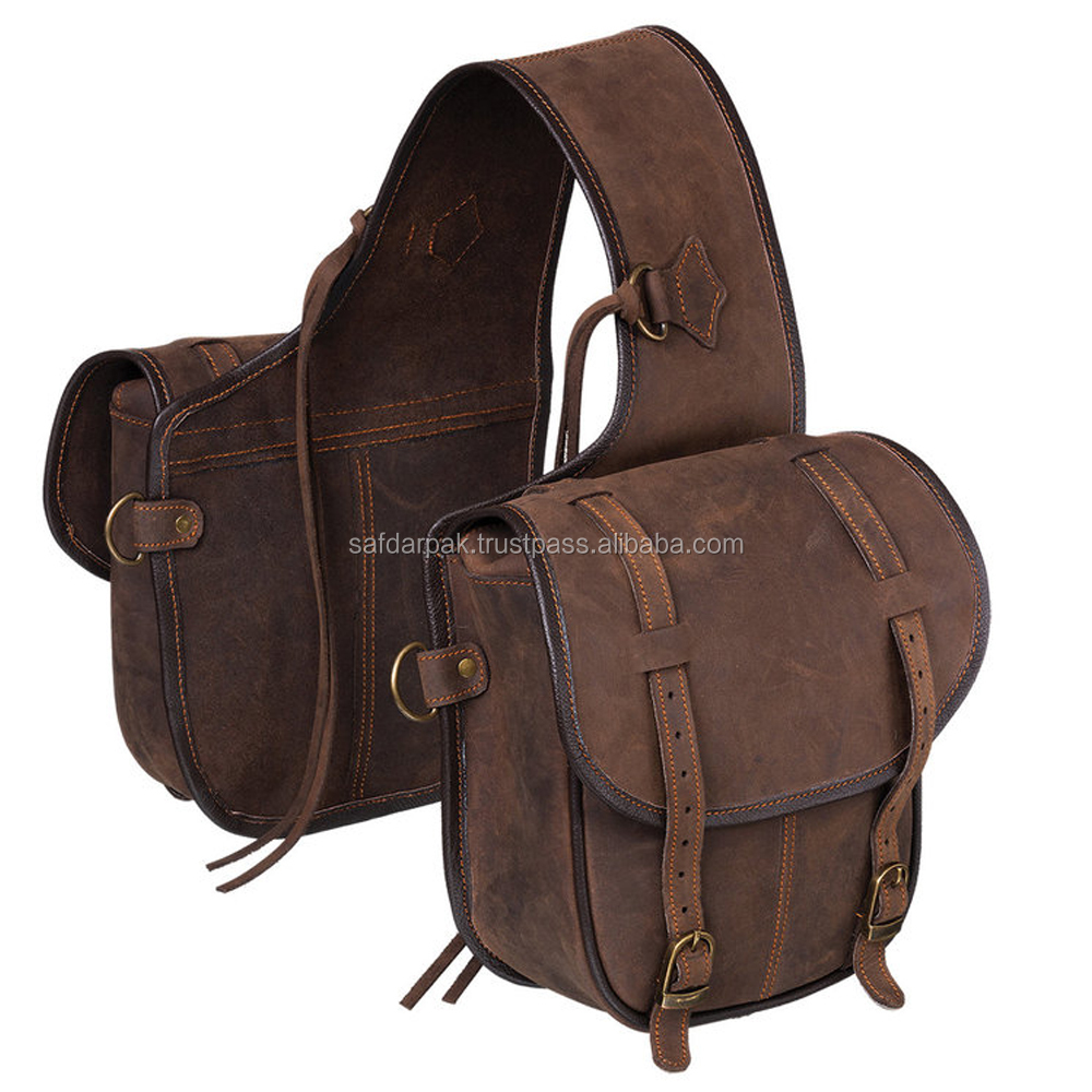 Equestrian Leather Saddle Bag High Quality
