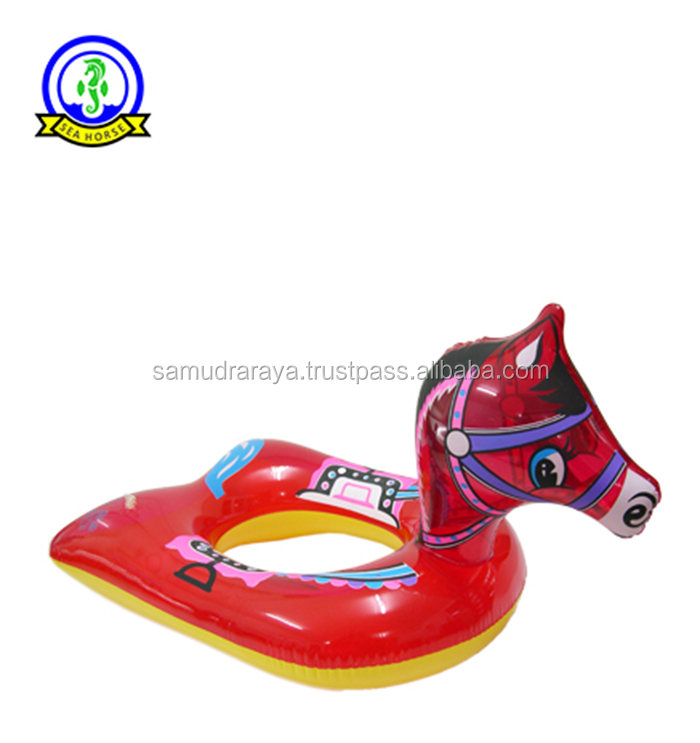 inflatable horse animal shape swimming ring kid seat pvc high quality