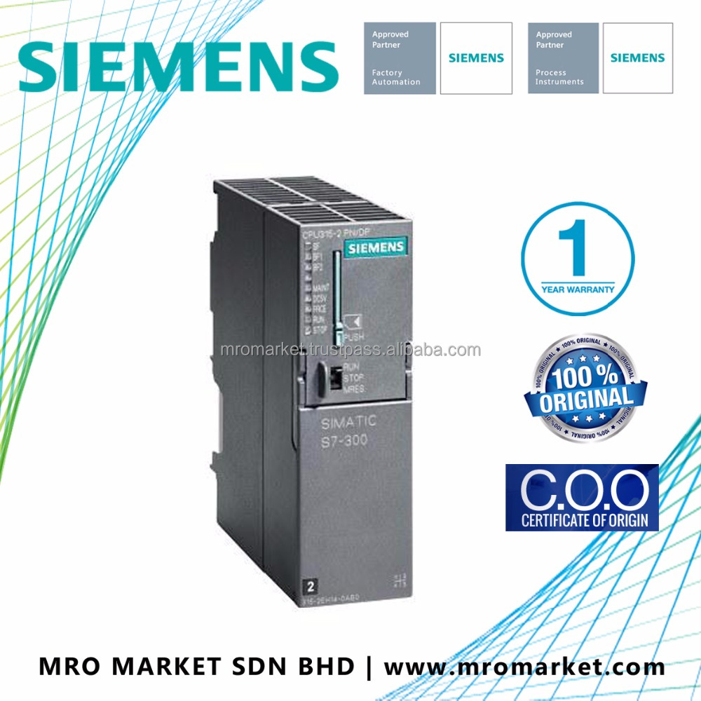 SIEMENS, SIMATIC S7-300 CPU 315-2 PN/DP, CENTRAL PROCESSING UNIT WITH 384 KBYTE