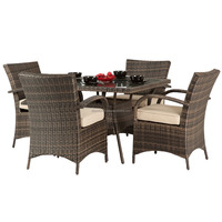 Vietnam garden outdoor furniture Dining sets with 4 chairs and table