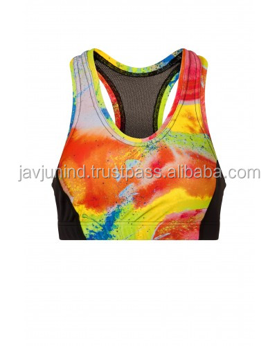 new fashionable printed bra for ladies / beautiful ladies yoga wear